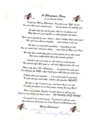 FATHER CHRISTMAS POEMS
